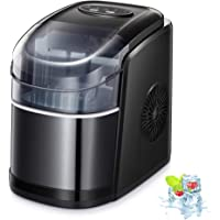 Kismile Counter top Ice Maker Machine with Self-cleaning, 26LBS/24H Compact Automatic Ice Makers,9 Cubes Ready in 6-8…