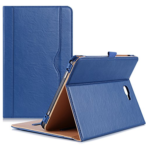 ProCase Samsung Galaxy Tab A 10.1 Case - Stand Folio Case Cover for Galaxy Tab A 10.1 Tablet SM-T580 T585 T587 (NO S Pen Version), with Multiple Viewing Angles, Document Card Pocket - Navy