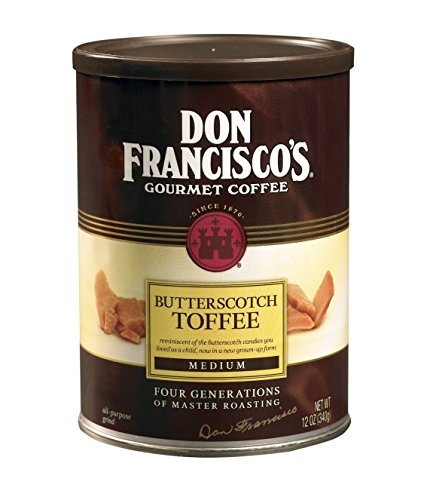 Don Francisco's Butterscotch Toffee, Premium 100% Arabica Coffee, Flavored, Medium-Roast, Ground 12-Ounce Can