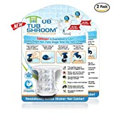 #3: TubShroom Revolutionary Tub Drain Protector Hair Catcher/Strainer/Snare, 2 Pack, Clear