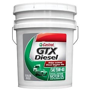 Castrol 0845 GTX Diesel 15W-40 Motor Oil, 5 Gallon