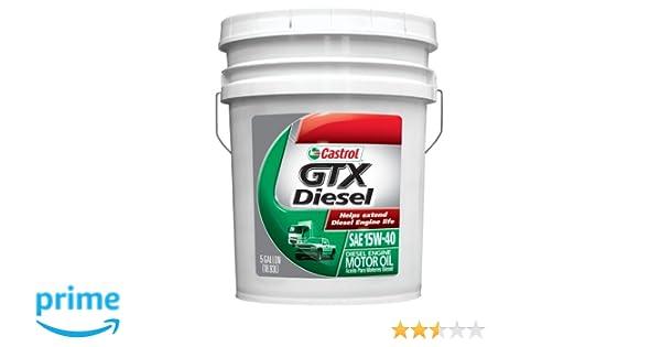 Amazon.com: Castrol 0845 GTX Diesel 15W-40 Motor Oil, 5 Gallon: Automotive