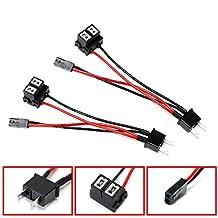 iJDMTOY (2) H7 To Bi-Xenon Solenoid Magnetic Hi/Lo Adapter Splitter Wires For Headlamp Projector Lens Retrofit