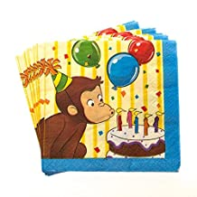 Curious George Beverage Napkins by Century Novelty