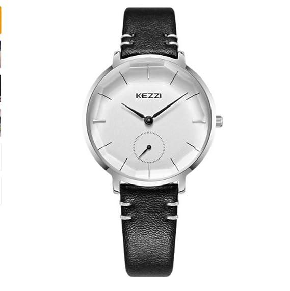 Reloj de pulsera para mujer 2018 con reloj de cuarzo impermeable para mujer, color negro