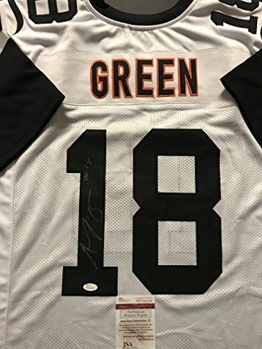 Autographed/Signed AJ A.J. Green Cincinnati Color Rush Football Jersey JSA COA Cincinnati Bengals Autographed Jerseys