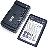 zte battery charger - Accessory New High Power (Li-Ion 3.8V 3300mAh ) Replacement standard battery+Universal USB/AC Charger for AT&T/Tracfone ZTE ZMAX 2 Z958 Phone