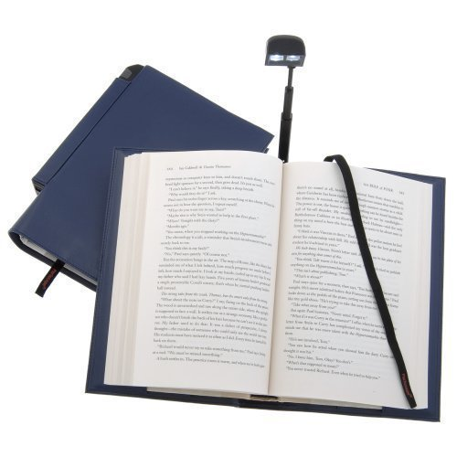 Periscope Hardcover Booklight in a Bookcover (Blue)