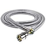 Chromed Stainless Steel Double-buckle Flexible Shower Hose Handshower Hose Replacement Shower Tube-60 Inches