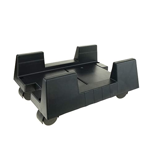 Cablematic PC stand for computer support with wheels in black color
