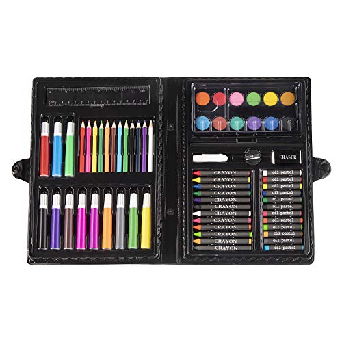 Darice 68-Piece Art Set – Art Supplies for Drawing, Painting and More in a Plastic Case - Makes a Great Gift for Children and Adults