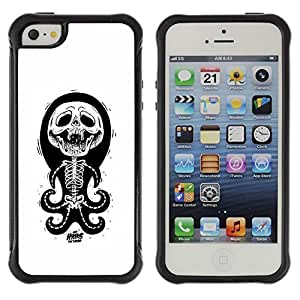 Be-Star Unique Pattern Anti-Skid Hybrid Impact Shockproof Case Cover For Apple iPhone 5C ( Skull Funny Octopus Anatomy White ) Kimberly Kurzendoerfer