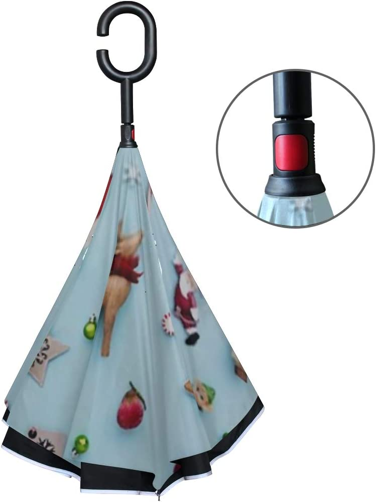 Double Layer Inverted Inverted Umbrella Is Light And Sturdy Collection Christmas Objects Viewed Above Reverse Umbrella And Windproof Umbrella Edge Ni