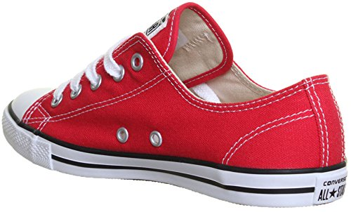 SV - Genuine Converse 537107 All Star Chuck Taylor Plimsolls Dainty Womens Trainers - Red, 3 UK