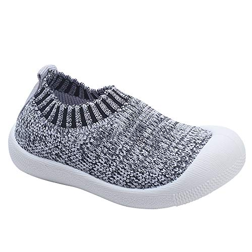 Image of Toddler Baby Boys Girls Shoes Cotton Knitting Breathable Soft Rubbler Sole Outdoor Sneakers First Walkers