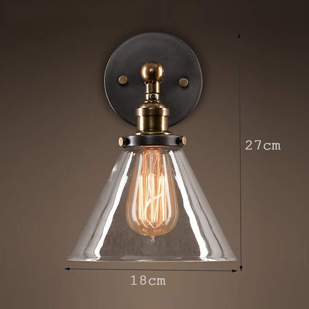Noulerd Selbstmontage Antikes Kupfer Retro Nachttischlampe Glas Wandleuchte, 18  27Cm E27 Shop Barstudycorridorlamps