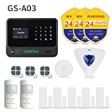 Golden Security Wireless Home & Besiness Alarm System ,DIY Home Protecting for Alarm Security System Compatible with Amazon Alexa (GS-A03).