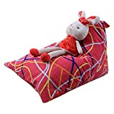 bestpriceam Kids Stuffed Animal Plush Toy Storage Bean Bag Soft Pouch Stripe Fabric Chair I