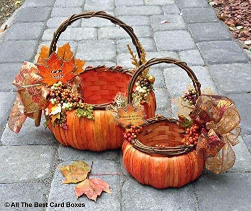 Fall Wedding Card Holder Ideas: Amazon.com: Fall Wedding Pumpkin Basket Set,personalized