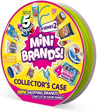 5 Surprise Mini Brands Collector's Case Series 2 (Comes with 4 Exclusive Minis) 4 Exclusive Minis by way of ZURU, 7785
