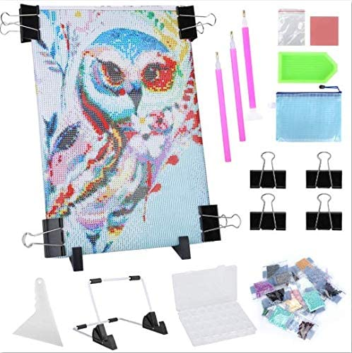 Diamond Painting LED Light Pad Kit, A4 LED Light Board Tracing Light Table with 5D Diamond Painting Owl Accessories