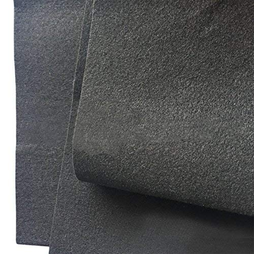 OriginA 4.5Oz Double-Heated Non-Woven Weed Barrier Fabric, Eco-Friendly for Vegetable Garden Landscape 4.9x26ft,Black by OriginA