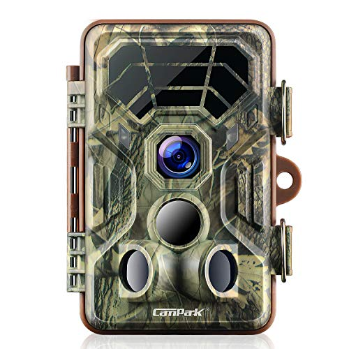 Campark Trail Camera 14MP 1080P IP66 Waterproof Hunting Game Camera for Wildlife Monitoring with 2.4'' LCD 120° Detecting Range Motion Activated Night Vision (Best Game Camera Under 100)