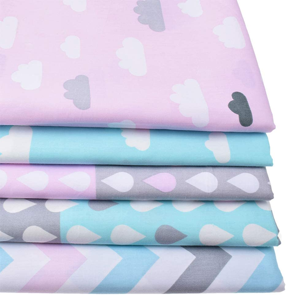 10pcs//lot 40cm*50cm Stars and Zig Zag Printed Cotton Fabric for Sewing Baby Crib Bumpers Kids Bedding Pillows Tela