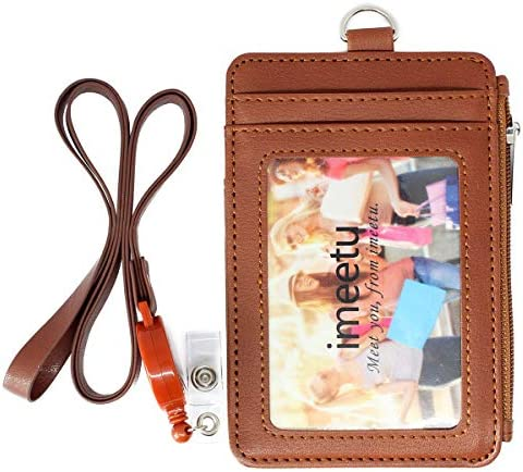 imeetu/ Card/ Holder/ Case/ with/ Key/ Hook,/ Leather/ Wallet/ RFID/ Purse/ for/ Man/ Woman