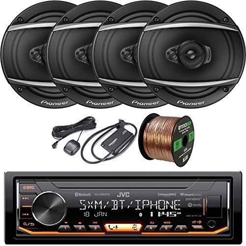 Single-DIN Bluetooth in-Dash AM/FM/Pandora/iHeartRadio/Spotify Digital Media Receiver, 4 x Pioneer 6.5