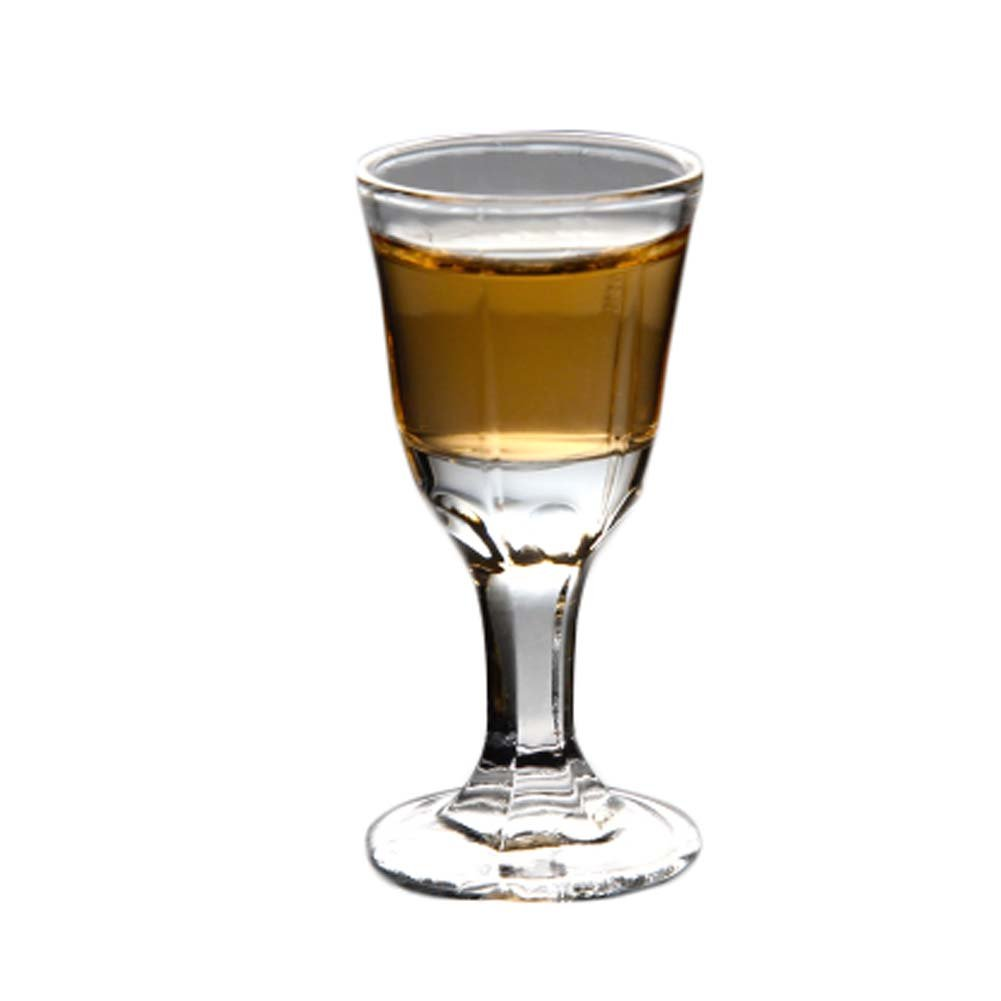 6 Pieces Creative Mini Goblet Spirits White Wine Glass European-style Thick-bottom Cup #10