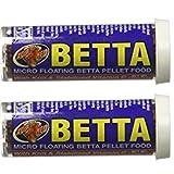 Betta Micro Floating Betta Pellet Food,Net Wt0.65 OZ (2 Pack)