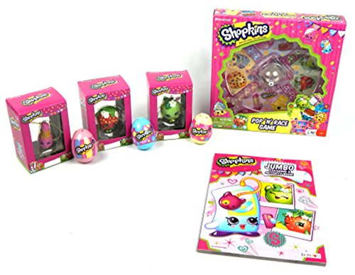 Shopkins Pop Race Limited Edition Board Game 9pc Collection Bundle Gift Set by Unknown