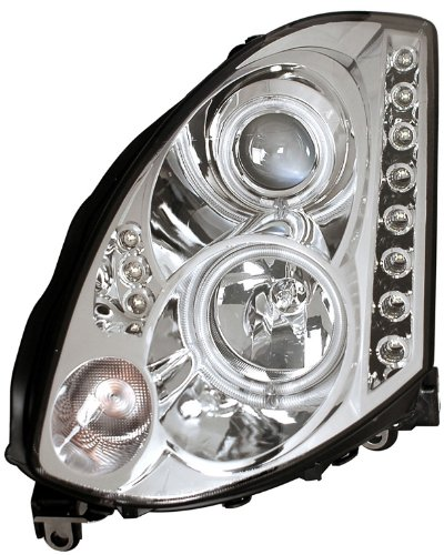 Infiniti G35 2dr HID Version Ccfl DRL LED Projector Headlights - Chrome (Sold in Pairs)