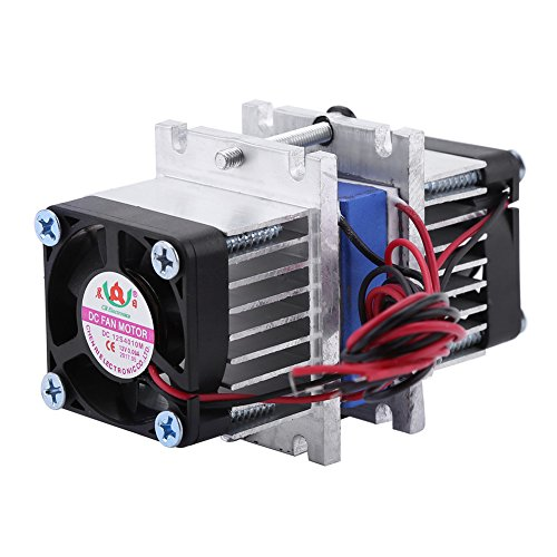 DIY 144W Dual-chip Thermoelectric Peltier Refrigeration TEC1-12706 Cooler with Water Cooling System (Single Cooler) by Walfront