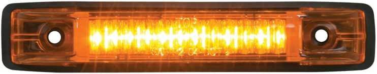 Grand General 77650 Amber Thin Line 6-LED Marker and Clearance Sealed Light, Amber/Amber