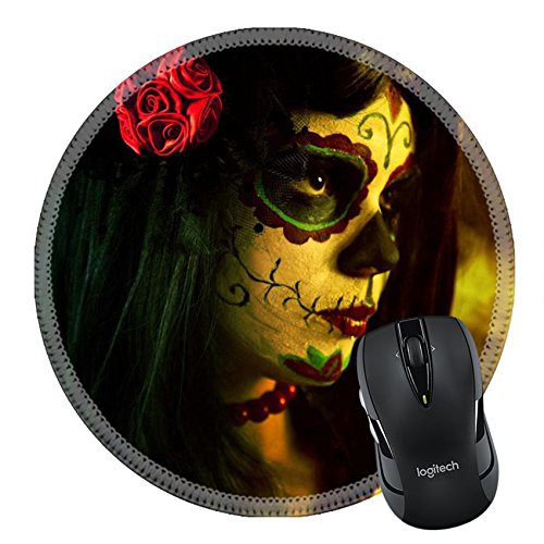 Danger Mouse Costume Childrens (MSD Natural Rubber Mousepad Round Mouse Pad/Mat: 10546187 Artistic shot of sugar skull girl with dead roses selective focus on rose)