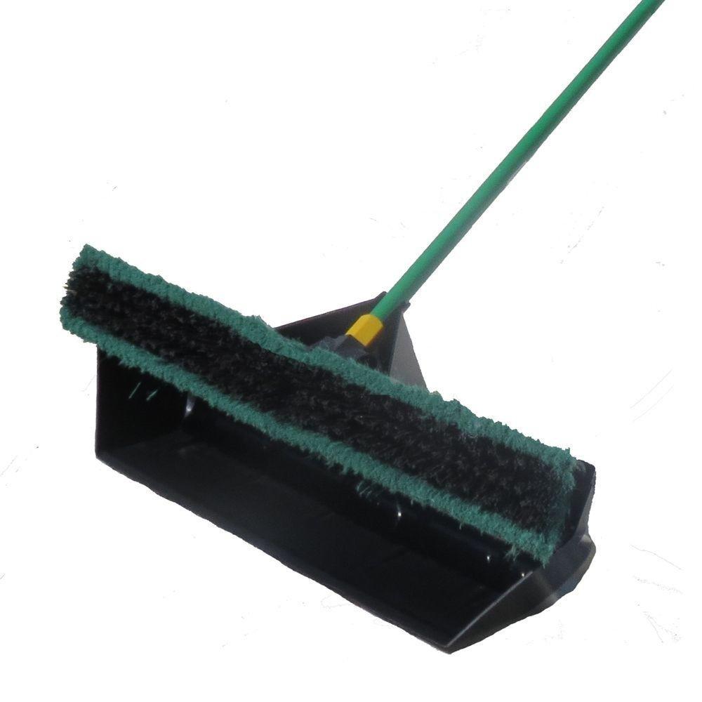 Brovel 2-in-1 Broom Shovel Dustpan & Multi-Surface Push Broom