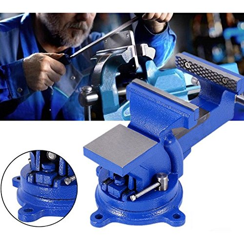 4'' 100mm Heavy Duty Bench Vice Anvil Swivel Locking Base Table Top Clamp Base for home handyman by Heaven Tvcz (Image #1)