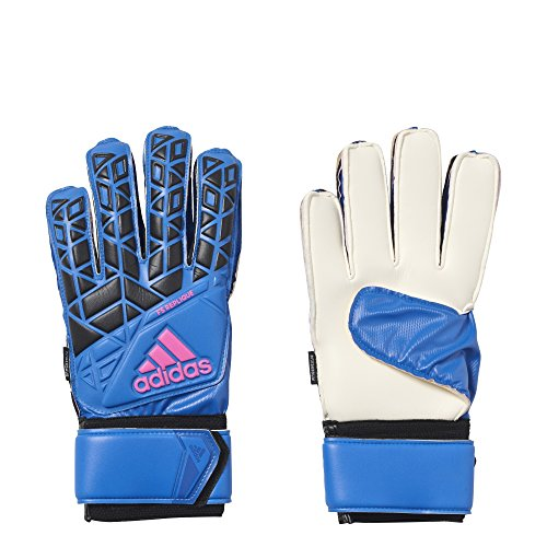 adidas ACE Fingersave Replique Soccer Goalkeeper Gloves (Blue, Black) (Size 10)