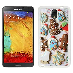 NEW Unique Custom Designed Samsung Galaxy Note 3 N900A N900V N900P N900T Phone Case With New Year Gingerbread Cookies Snowflakes_White Phone Case