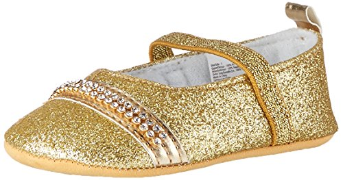 Little Me Girls' Glitter Mary Jane, Gold, 9-12 Months M US Infant