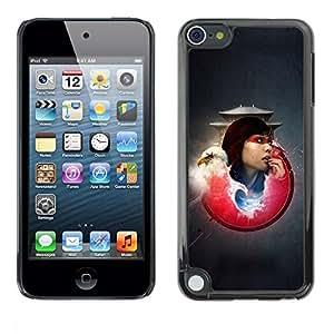 Be Good Phone Accessory // Dura Cáscara cubierta Protectora Caso Carcasa Funda de Protección para Apple iPod Touch 5 // Bald Eagle Samurai Girl