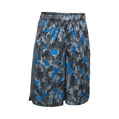 Under Armour Boys' Eliminator Printed Shorts, Brilliant Blue (787), Youth Small