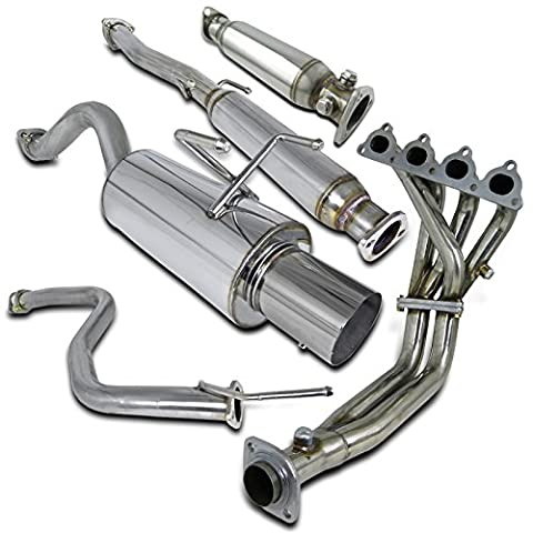 Civic 3Dr Exhaust Header, Cat Back, Catalytic Pipe
