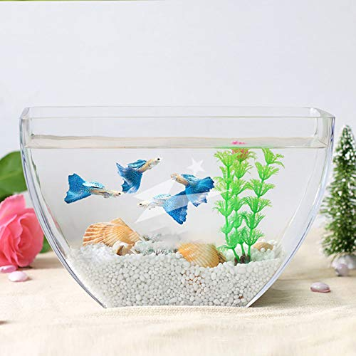 Transparent Glass Sea Fish Tank Integrated Molding Fish Tank Aquarium Home Living Room Decoration Thick Wall Hyonic Vase   B style, Fish tank