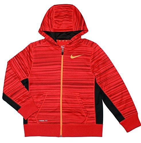 Nike Boy's 7-16 Ko 3.0 Full-zip Hoodie (Large, Gym Red/Black)