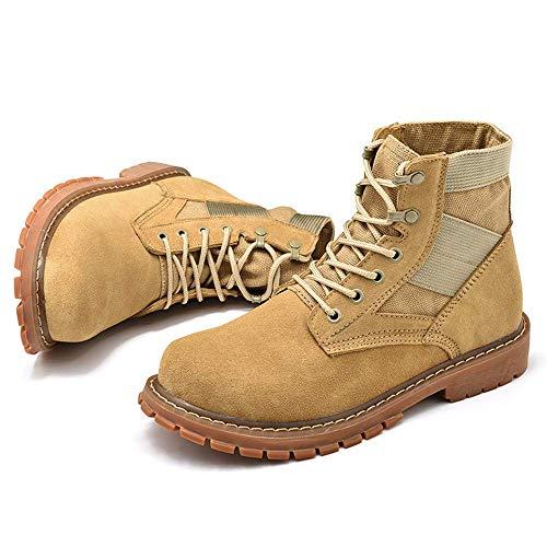 Hombre Amarillo Gamuza Trabajo Cream Tamaño Tamaño Zapatos Ox Amarillo 40 color color Gran Casual Leather coloured Botines Para Fuweiencore De Eu 45 xwpAw