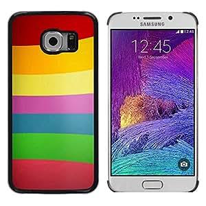 Be Good Phone Accessory // Dura Cáscara cubierta Protectora Caso Carcasa Funda de Protección para Samsung Galaxy S6 EDGE SM-G925 // Color Lines Pattern