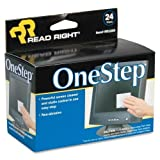 Wholesale CASE of 25 - Read/Right One Step CRT Screen Cleaning Wipes-One Step CRT Screen Cleaning Wipes, 24 Foil Packets